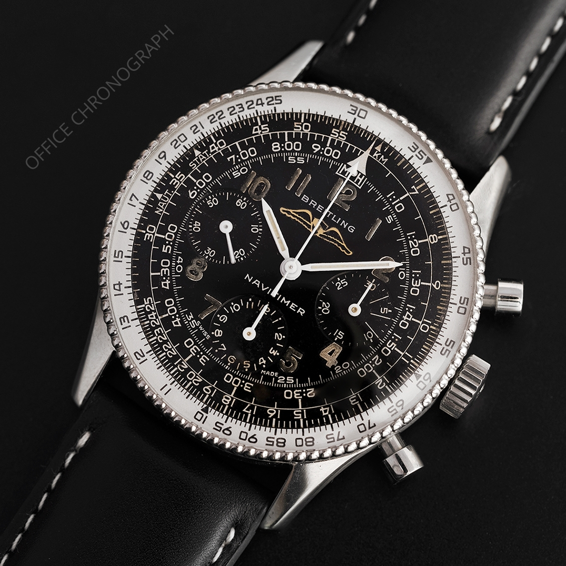 BREITLING Navitimer AOPA Aircraft Owners and Pilot Association cadran noir